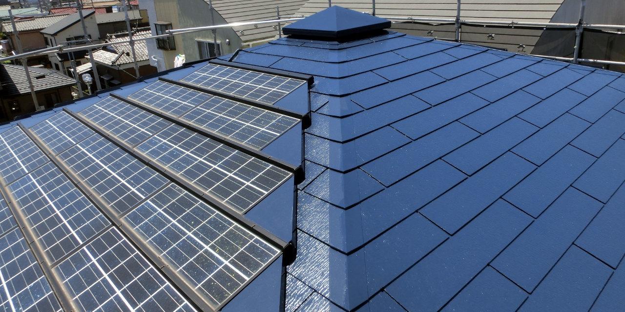太陽光発電用ソーラーパネルと屋根のリフォーム